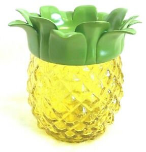 BATH BODY WORKS🍍 YELLOW PINEAPPLE Glass LUMINARY SOAP HOLDER Fits all Bottles🍍