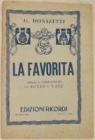 GAETANO DONIZETTI LA FAVORITA ROYER VAEZ 1944 LIBRETTO D'OPERA BOOKLET TEATRO