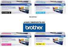 4 Pack GENUINE BROTHER OEM TONER SET TN336BK TN336C TN336Y TN336M - SEALED