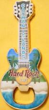 Hard Rock Cafe CAYMAN ISLANDS Guitar MAGNET Bottle Opener BEACH SCENE New!
