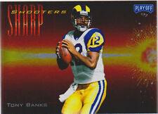 1997 PLAYOFF ZONE TONY BANKS SHARPSHOOTERS RED