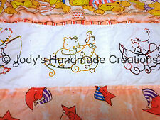 HANDMADE BABY QUILT /EMBROIDERED SLEEPY BEARS 38 X 57