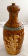 GERMAN LIDDED BEER STEIN WHIMSICAL BOWLING PIN SHAPED POTTERY
