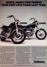 1980 Yamaha XS650 and XS400 Motorcycles - Classic Vintage Advertisement Ad D23