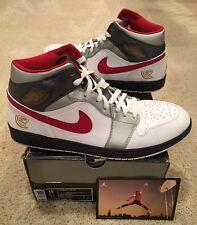 Nike Air Jordan Retro 1 Mid Olympic Dream Team Size 15 Red White Blue Gold 2008