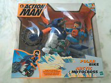ACTION MAN POLAR BIKE ARCTIC MOTOCROSS BIKE EXTREME MINT IN BOX VERY COOL