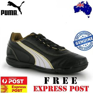 PUMA KRATERO JUNIOR INDOOR TRAINERS FOOTBALL SOCCER BOOTS ==BRAND NEW==