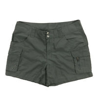 "Columbia 4"" Inseam Womens 12 Gray Ripstop Cargo Hiking Camping Shorts"
