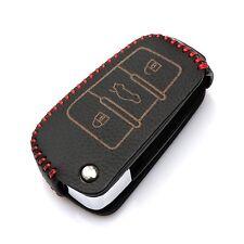 Leather Car Remote Key Holder Case Cover fit AUDI A3 A4 A6 A6L A8 R8 Q7 TT 20...