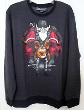 NWT Men's Christmas Motorcycle Santa sweater / sweatshirt size large