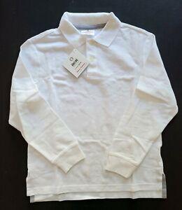Hanna Andersson Boys 130 (10) NEW NWT White Classic Polo Top Shirt CC1-69