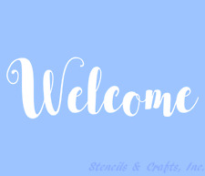 WELCOME STENCIL STENCILS WORD PAINT CRAFT TEMPLATE TEMPLATES BACKGROUND #3 NEW