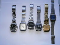 Job lot of old gents SEIKO watches mechanical watches spares or repair