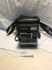 Polaroid Sun 600 LMS Vintage Instant Film Flash Camera W/ Strap Tested & Case