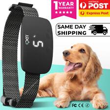 2021 Dog Anti Bark E-Collar Rechargeable Shock-Vibration Pet Barking Training AU