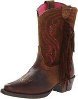 Ariat Kids' Fancy Western Cowboy Boot Distressed Brown/Chocolate