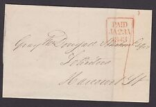 IRELAND, Stampless Cover, Dublin Paid, January 23, 1843