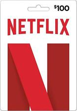 Netflix - $30 $60 $100 Gift Card - Movies, TV Shows, Entertainment Physical Card