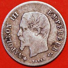 20 centimes 1860 BB silver Napoleon III France Strasburg KM# 778