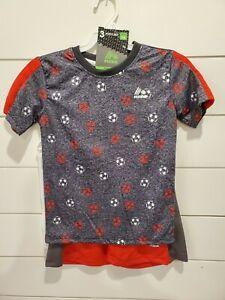 RBX 3pc Red shorts, tank, t shirt Soccer Balls NWT boys Sizes4,5/6,7  $2 SHIP