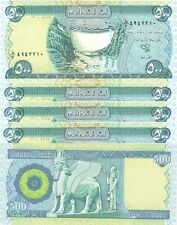 10 X 500 = 5000 NEW IRAQI DINARS CRISP UNCIRCULATED AUTHENTIC IQD-CERTIFIED!