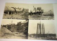 Rare Antique American Pipeline Construction Landscape Real Photo Postcard! RPPC!