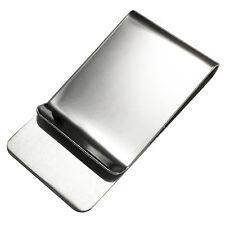 Classic Money Clip Cash Stash Holder Minimal Wallet Strong Polished Steel Wide