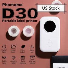 Phomemo Mini Portable Thermal Printer Pocket Label Maker Mobile Printer Paper