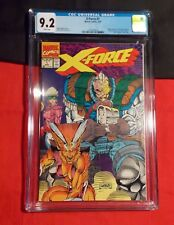 X-FORCE # 1 CGC 9.2 ROB LIEFELD WRAPAROUND COVER DIRECT EDITION Aug 1991 MARVEL