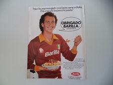 advertising Pubblicità 1983 BARILLA e PAULO ROBERTO FALCAO AS ROMA CALCIO