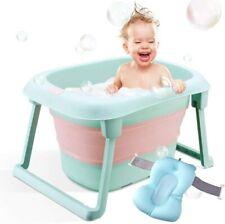 Baby Bath Tub, Folding Infant Bathtub, Portable Collapsible Newborn Toddler 0-5Y