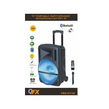 QFX PBX-61126 Rechargeable Speaker w/Bluetooth/FM/USB/SD/AUX In/Mic/Remote