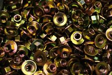 """(150) Conical Washer Nuts 3/8-16 Free-Spinning Yellow Zinc Plated 1"""" OD Coarse"""