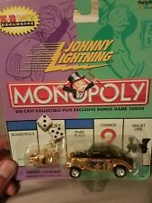 Johnny Lightning Golden Monopoly car and board piece 1933 willies coupe