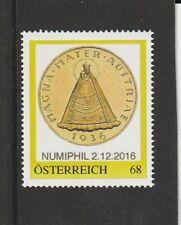 Österreich - Münze auf Marke Magna Mater Austriae