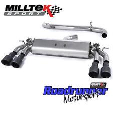 """Milltek Golf R MK7 exhaust CAT BACK Non Resonated Surdimensionnée 3"""" Noir GT100 SSXVW404"""