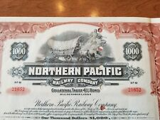 1954 Northern Pacific Railway Company Bond Stock Certificate Railroad
