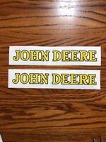 Two Nice John Deere Logo Decals 1-1/4inch x 10inch 16