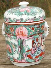 Art d'Asie Pot Couvert Chinois Porcelaine Chinese Jar