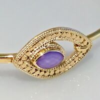 SOLD OUT ! ANNA BECK 18 K GOLD PLATED S/S CHALCEDONY HOOK BRACELET $280
