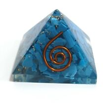 REIKI ENERGY CHARGED NATURAL TURQUOISE ORGONE PYRAMID POWERFUL ENERGY GENERATOR