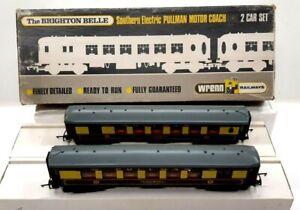 WRENN MODEL RAILWAY W3006/7 BRIGHTON BELLE PULLMAN OO TRAIN