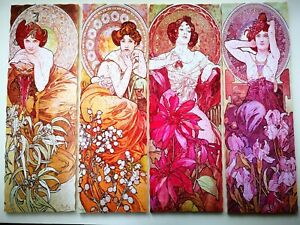Hand Cut Wooden Jigsaw Puzzle The Precious Stones By Alphonse Mucha 750-850 pcs