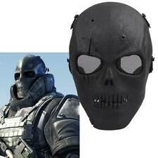 Skull Skeleton Airsoft Tactical Paintball Full Face Safety Protection Mask Black