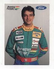 Cartolina Formula 1 ALESSANDRO NANNINI Benetton Ford F1 1989 Postcard Firma