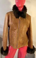Mill Valley Sheepskin And Leather Co Brown Shearling Leather Jacket Sz:L(10) NWT