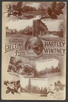 Postcard Hartley Wintney nr Fleet Hampshire 7 views Posted 1909 RP Terry Hunt