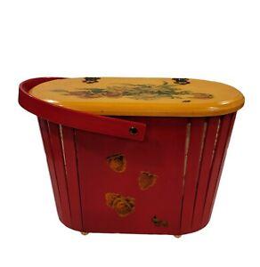 Cool Vintage Acrylic Sewing Storage Basket