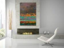 Contemporary Original Painting Orange Green Purple Abstract Gallery Artist Anya