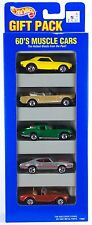 Hot Wheels 60's Muscle Cars 5 Pack Gift Set w/Green Corvette, Olds 3SP's 1996 E2